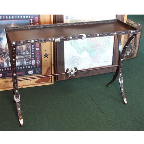 western sofa table table western belt and conchos accent sofa table