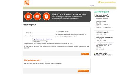 make home depot credit card payment home depot credit card login make a payment