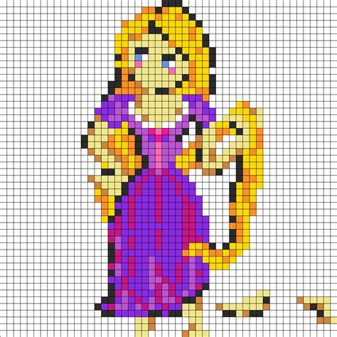 perler patterns printables rapunzel perler bead pattern bead sprites characters