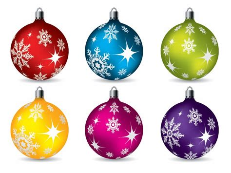 chritmas ornaments colorful ornaments vector free vector