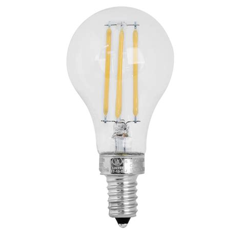 led light bulbs candelabra base 60w feit electric 60w equivalent soft white a15 dimmable clear