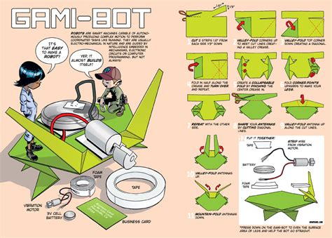 how to make an origami robot gami bots 171 howtoons