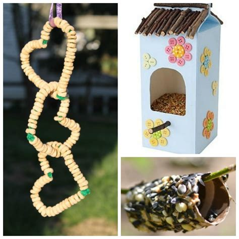 bird feeder crafts for make your own birdfeeder busy early