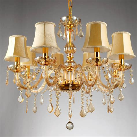 gold chandelier light 6 8 arms fashion chandelier lighting bedroom pendant chandelier light chagne color