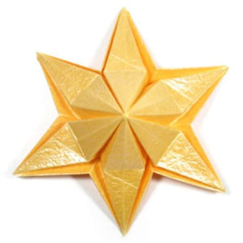 6 pointed origami how to make a six pointed easy embossed origami paper