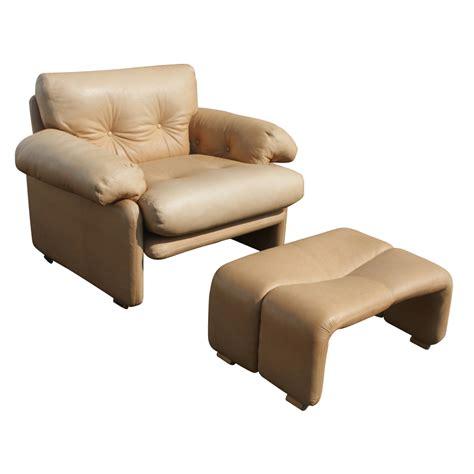 chair ottoman b b italia scarpa leather coronado lounge chair ottoman