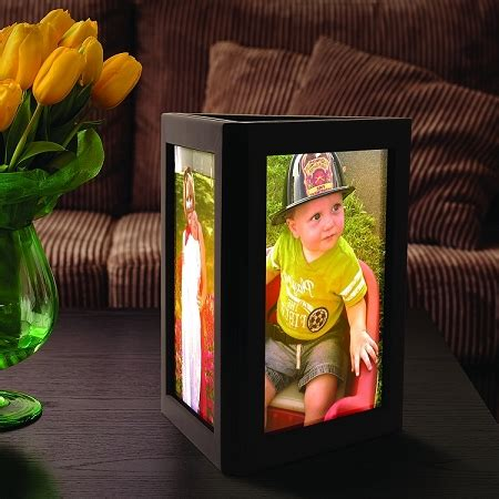 picture frame centerpiece picture frame candle centerpiece photo glo fully assembled