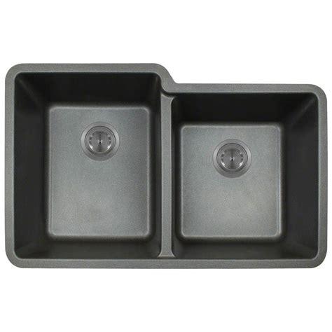 composite undermount kitchen sinks polaris sinks undermount composite 33 in basin
