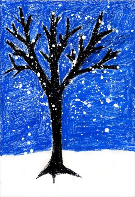winter trees winter tree projects for