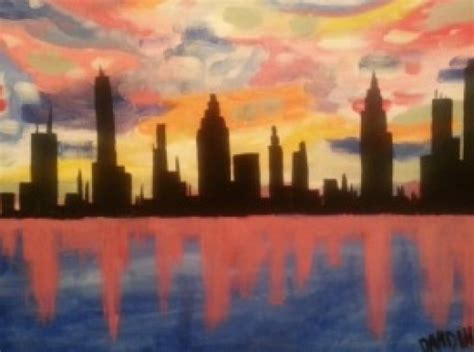 paint nite jj grimsby skyline at jj grimsby and co stoneham paint nite events