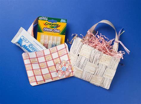 craft paper basket paper baskets woven wonderful craft crayola