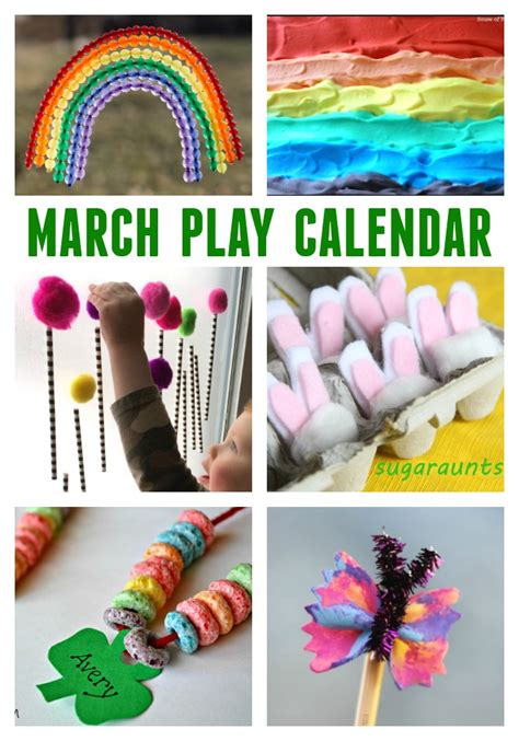march crafts for march activities for free monthly play calendar