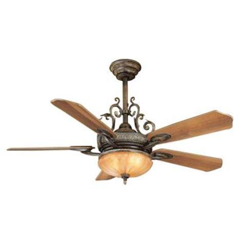 home depot ceiling fan lights hton bay chateau 52 in walnut ceiling