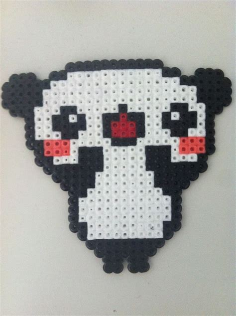 Sweet Anime Panda Hama Perler Pixel Design