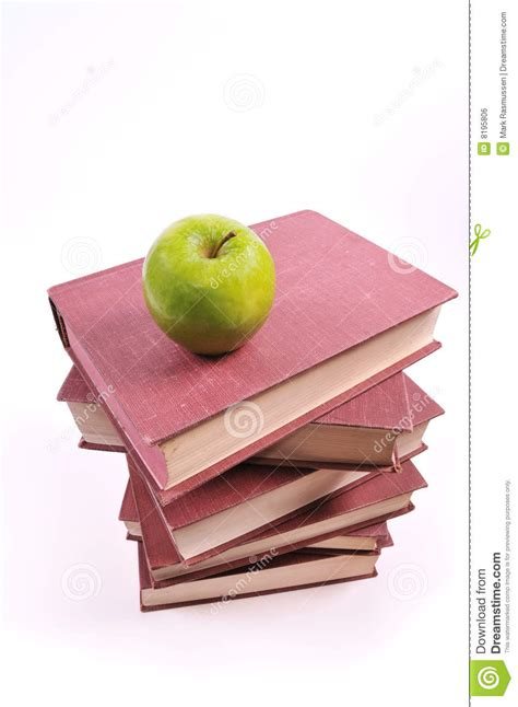 apple picture books apple and books royalty free stock image image 8195806