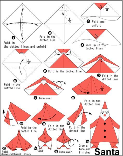 origami santa sweet tresa 184 184 168 how to fold santa origami ways