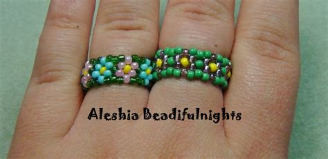how to make a beaded ring chain stitch beaded ring tutorial