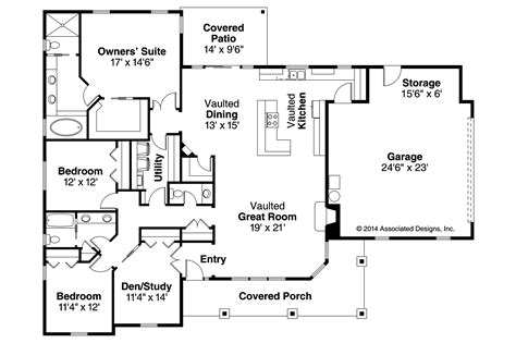 ranch home floor plans ranch house plans brightheart 10 610 associated designs