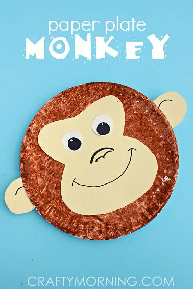 monkey paper plate craft paper plate monkey craft idea crafty morning