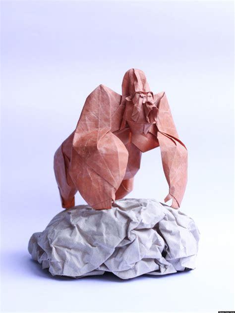 origami gorilla origami paper artist nguyen hung cuong creates