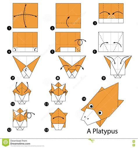 origami australian animals platypus illustrations vector stock images