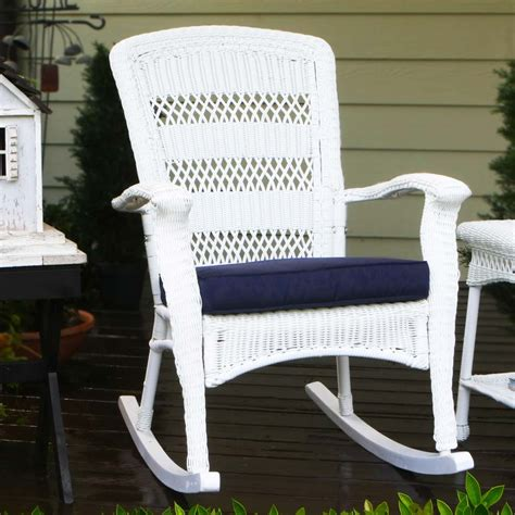 outdoor wicker chairs tortuga outdoor portside plantation wicker rocking chair