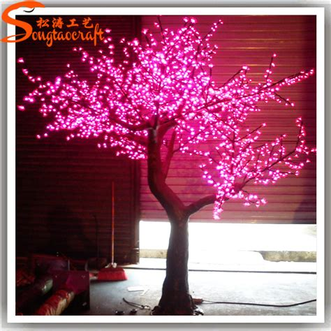 tree lights up factory cheap led light up cherry blossom tree outdoor