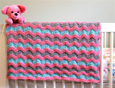 knitted ripple baby blanket knitting pattern for classic ripple baby afghan