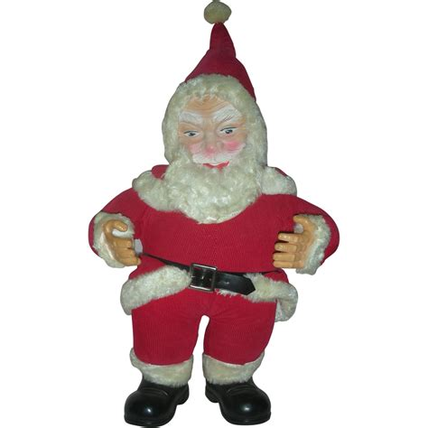 santa claus rubber sts vintage santa claus doll rubber from