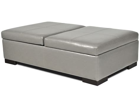 large leather ottoman with storage interesting white leather large square storage ottoman of
