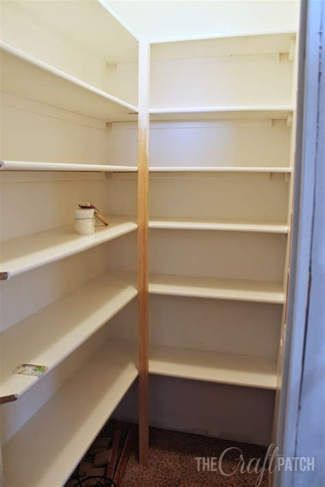 pantry shelf the craft patch how to build pantry shelves