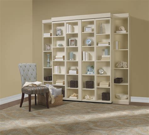 murphy bed with shelves bifold bookcase bed contemporary living room