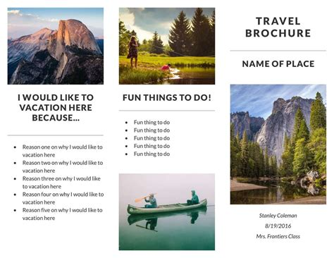 country travel brochure exles theveliger