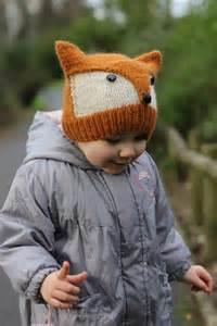 knit fox hat fox knitted hat fox