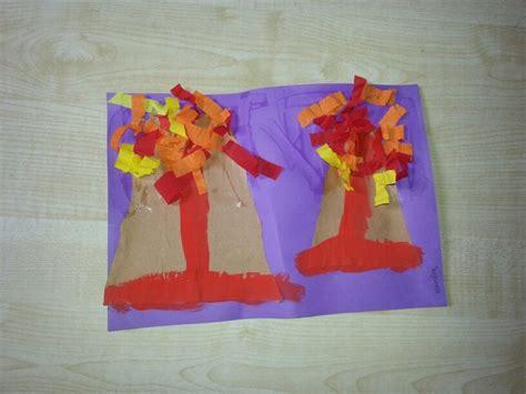 volcano crafts for volcano craft school