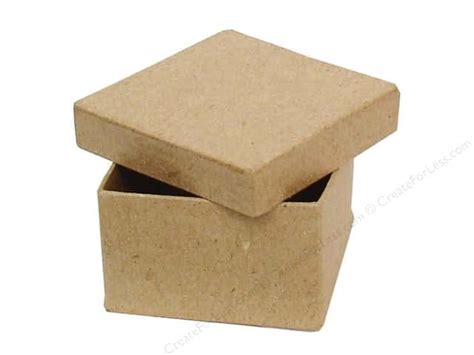 paper mache craft boxes paper mache mini square box by craft pedlars 36 pieces