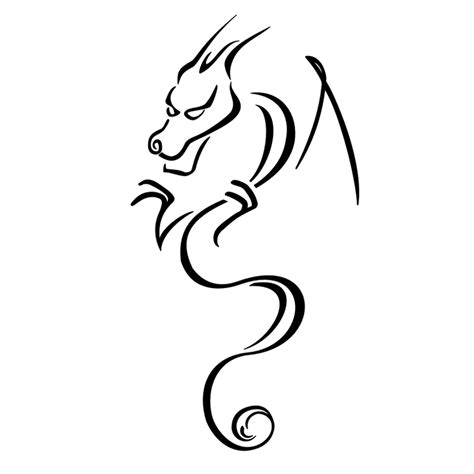 simple dragon tattoos