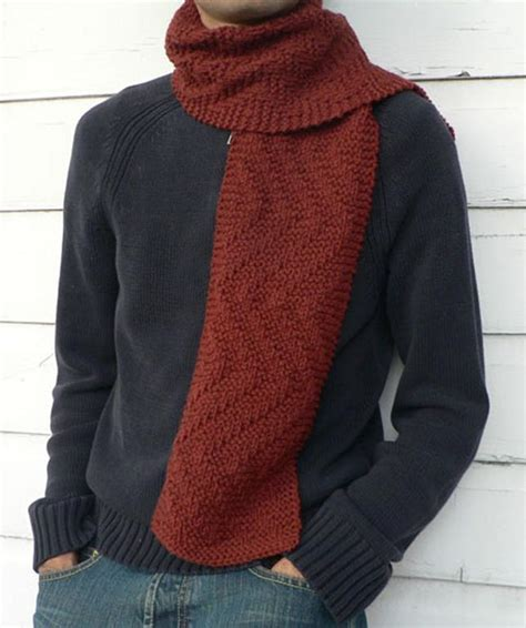 mens knitted scarf patterns s knit scarf pattern a knitting