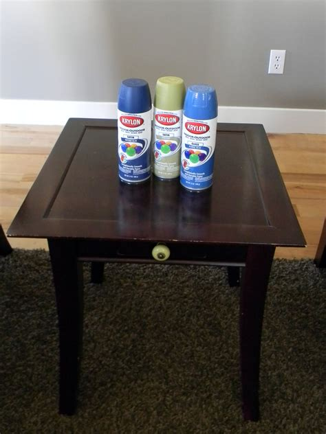 spray painting furniture painted thrifted table organize and decorate everything