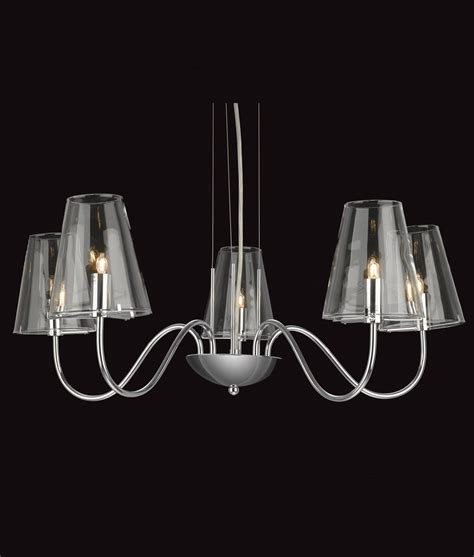 glass chandelier modern chrome clear glass chandelier