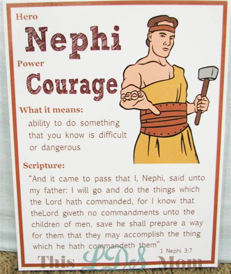 book of mormon heroes pictures this lds scripture heroes nephi part 1