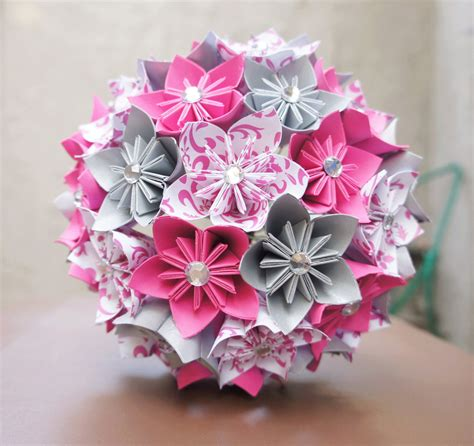 how to make an origami bouquet custom wedding kusudama origami paper flower package