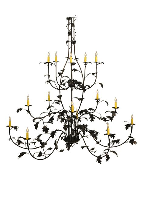oak leaf chandelier meyda 134147 oak leaf chandelier
