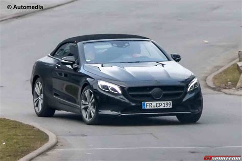 Mercedes S Class Convertible by Mercedes S Class Convertible Spied With Less Camo