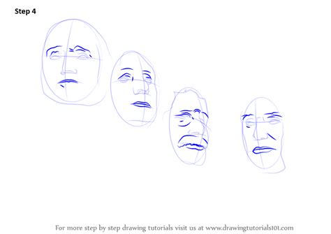 learn how to draw mount rushmore statues by