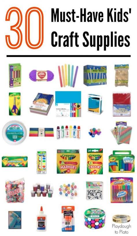 kid craft supplies 30 must craft supplies playdough to plato