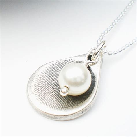how to make fingerprint jewelry silver 25 best ideas about fingerprint necklace on