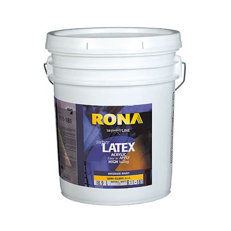 acrylic paint gloss finish paint quot semi gloss finish quot interior acrylic late rona