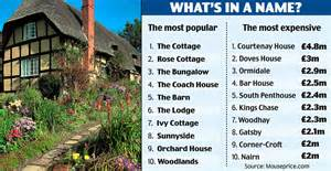 unique house names the poshest house names in britain daily mail