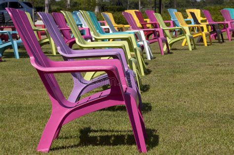 Colorful Adirondack Chairs by Colorful Adirondack Chair In A Park Stock Image Image Of